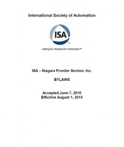 ISA Niagara Frontier By-laws
