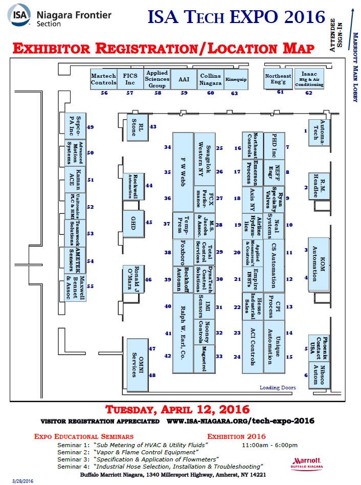EXPO 2016 Exhibitor Floor Plan